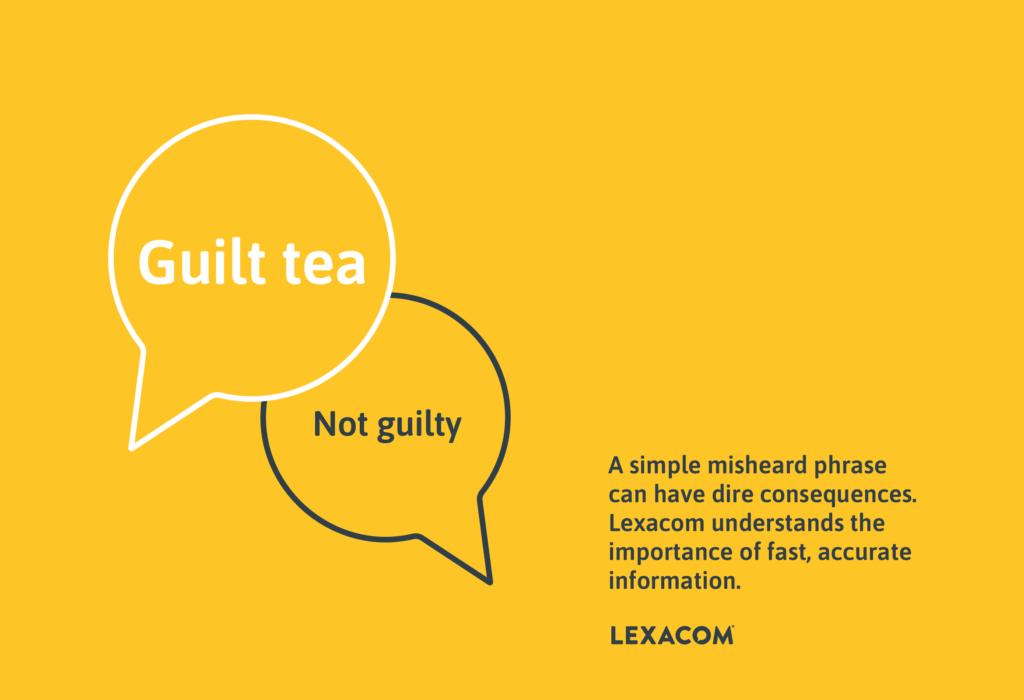 guilt tea. not guilty